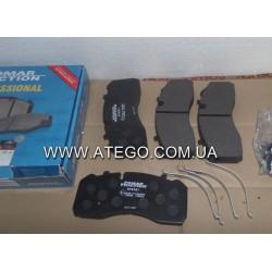 Тормозные колодки Mercedes Atego 29095 (На колеса 19,5). FOMAR