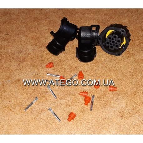 Вилка электрическая заднего фонаря Mercedes (под фишку 23 мм, 7 контактов)