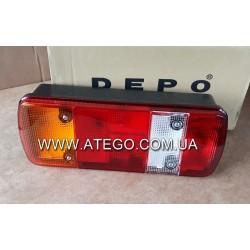 Задний фонарь Mercedes Atego 5-секций правый с фишкой. DEPO