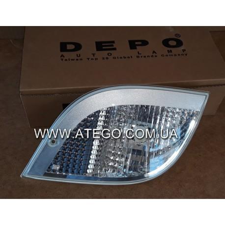 Указатель поворота Mercedes Atego II белый левый (Без патрона). DEPO