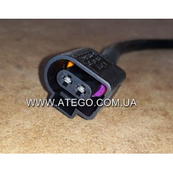 Роз'єм електричний бокового габарита Mercedes Atego (на 2 контакти).