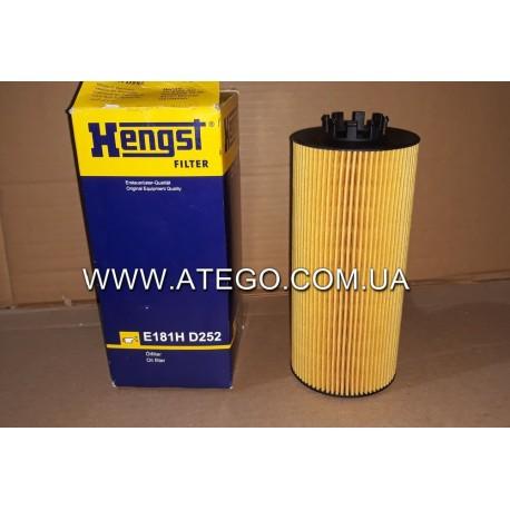 Масляный фильтр Mercedes Atego Euro6 (на 6-цилиндровый двигатель). HENGST
