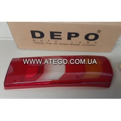 Стекло заднего фонаря Mercedes Atego Euro6 0025447390. DEPO