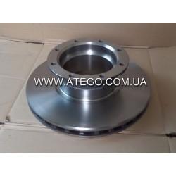 Задний тормозной диск Mercedes Atego 9704230412 (На колеса 17,5). MEGA
