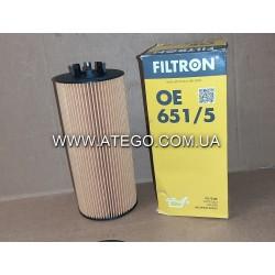 Масляный фильтр Mercedes Atego Euro6 (на 6-цилиндровый двигатель). FILTRON