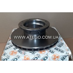 Задний тормозной диск Mercedes Atego 9704230412 (На колеса 17,5). CEI