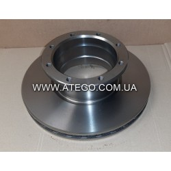 Задний тормозной диск Mercedes Atego 9704230712 (На 10 серию, на колеса 17,5). MEGA