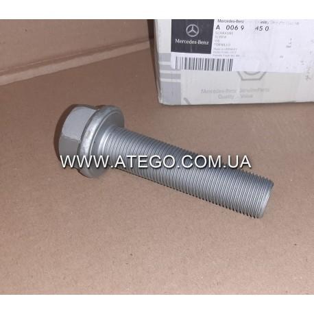 Болт крепления бугеля заднего стабилизатора Mercedes Atego, Axor, Actros M24x100 0069908504. Оригинал